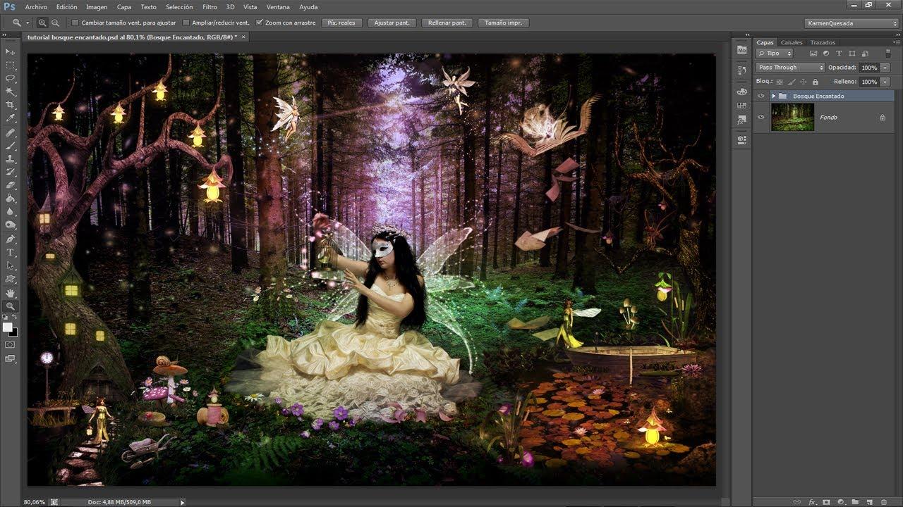 Tutorial Photoshop // Bosque encantando by @karmenQuesada 1/2 ...