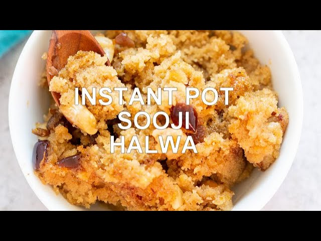 INSTANT POT SOOJI HALWA - Vegan Sheera (Indian Dessert) | Vegan Richa Recipes