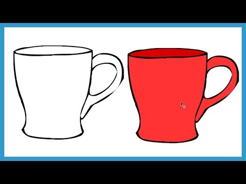how to draw a mug step by step easy for kids and beginner