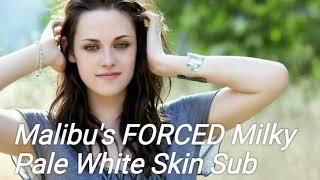 Pale milky white skin all