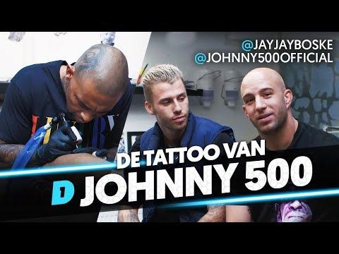 Johnny 500 zet HUISDIER op zijn kuit! // DAY1 BOLD INK #3