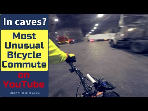 Watch: cycling to work through cavernous limestone mines turned into a business park