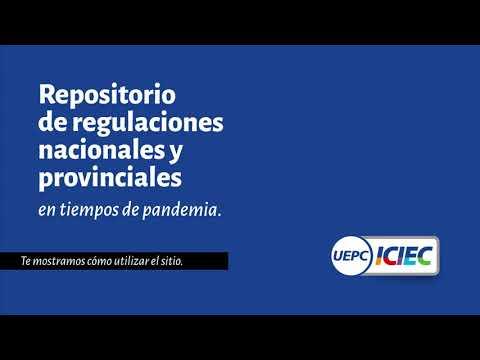 Regulaciones en pandemia   Tutorial de uso   ICIEC-UEPC