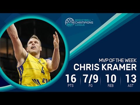Chris Kramer records first triple double in the Basketball Champions League as MVP of gameday 12