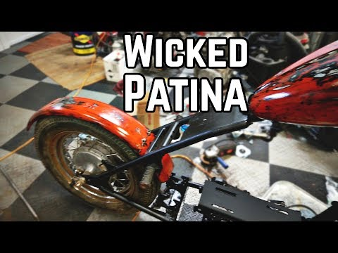 Killer Patina Paint Job!! 670cc Honda Davidson Chopper Pt. 2