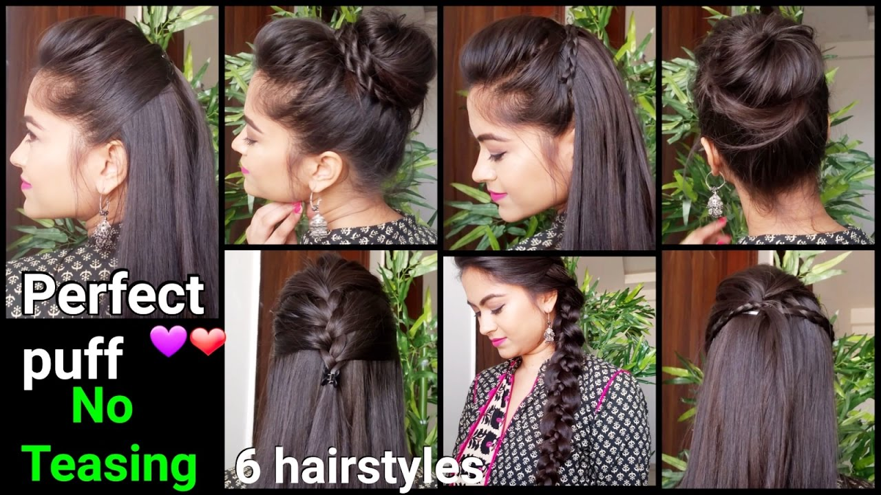 1 Min Perfect Puff 6 Quick Easy Hairstyles For Medium To Long Hair