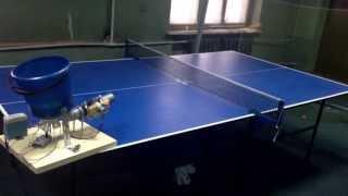 Самодельный робот для настольного тенниса