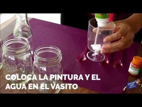 DIY - CÓMO PINTAR MASON JARS