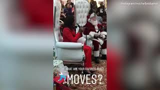 Michelle Obama shows off dance moves on children's hospital visit