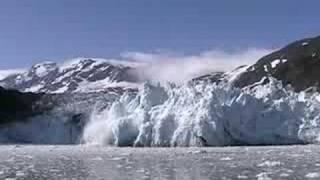 surprise glacier calving near whittier alaska