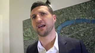 CARL FROCH - 'I WANT A STRAIGHTENER WITH JOE CALZAGHE!' & SAYS GOLOVKIN / DeGALE FIGHTS INTEREST HIM