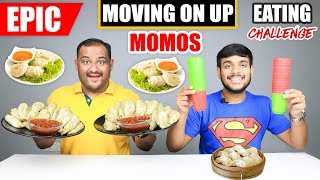 EPIC MOVING ON UP MOMOS EATING CHALLENGE   Spicy Momos Eating Competition   Food Challenge
