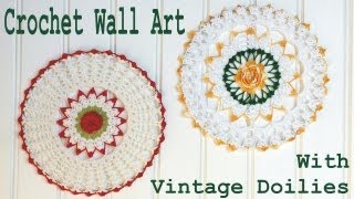 Crochet Doily Wall Art