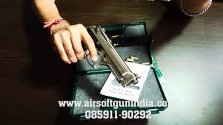 Beretta M92fs based kimar m92fs front firing blank gun in india(chrome) screenshot 5