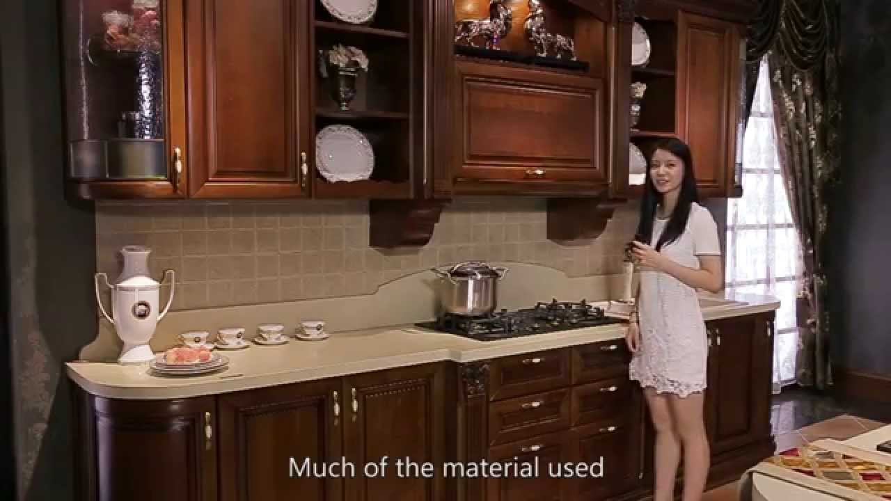 Highend Cherry Wood Kitchen Cabinet from OPPEIN  YouTube