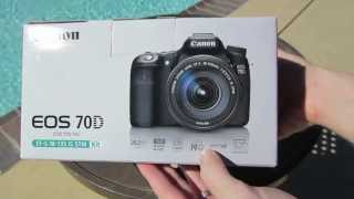 Canon 70D Unboxing