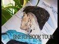Watercolor sketchbook tour/ KPOP fanart