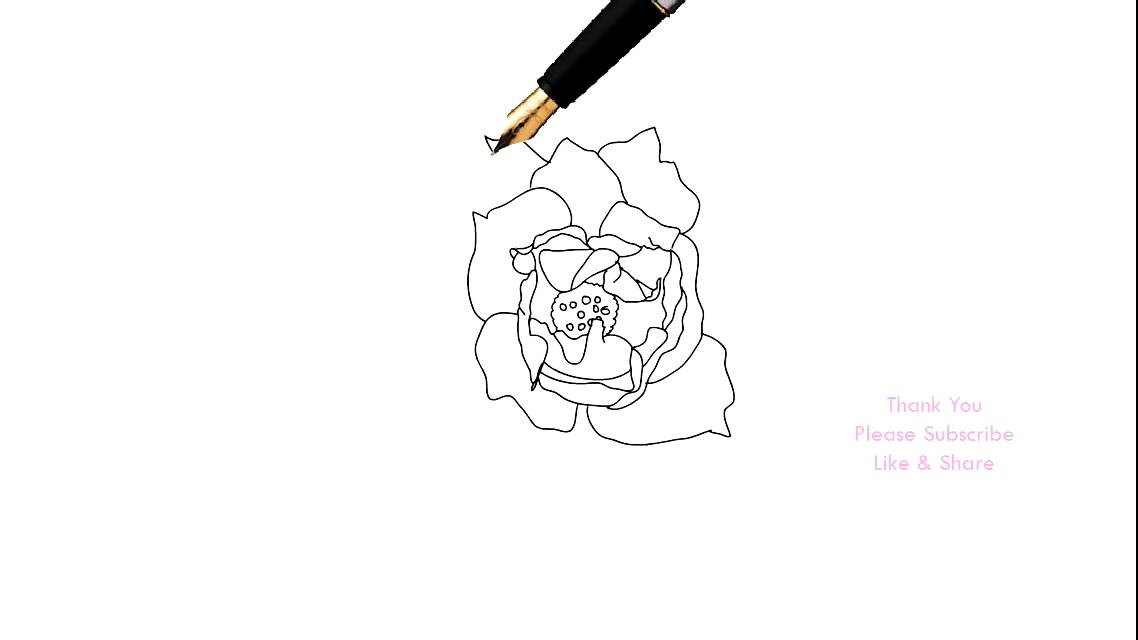 How to draw a rose flower easy line drawing sketch youtube how to draw a rose flower easy line drawing sketch ccuart Gallery
