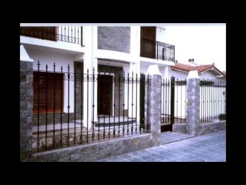 Rejas para casas fence designs youtube for Modelos de frentes de casas pequenas