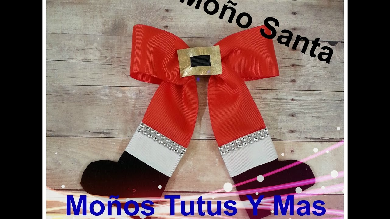 Mo 241 O Santa Claus Paso A Paso Santa Hair Bow Tutorial Diy