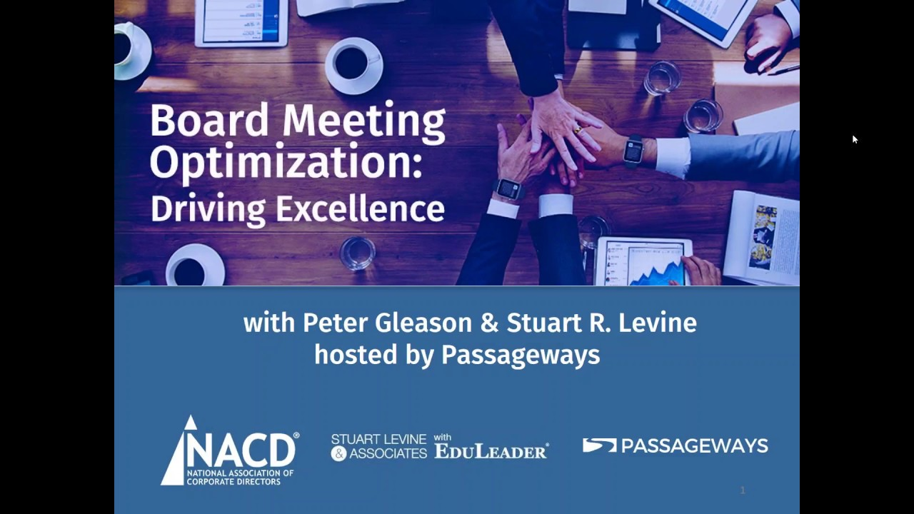 Webinar - Board Meeting Optimization: Driving Excellence