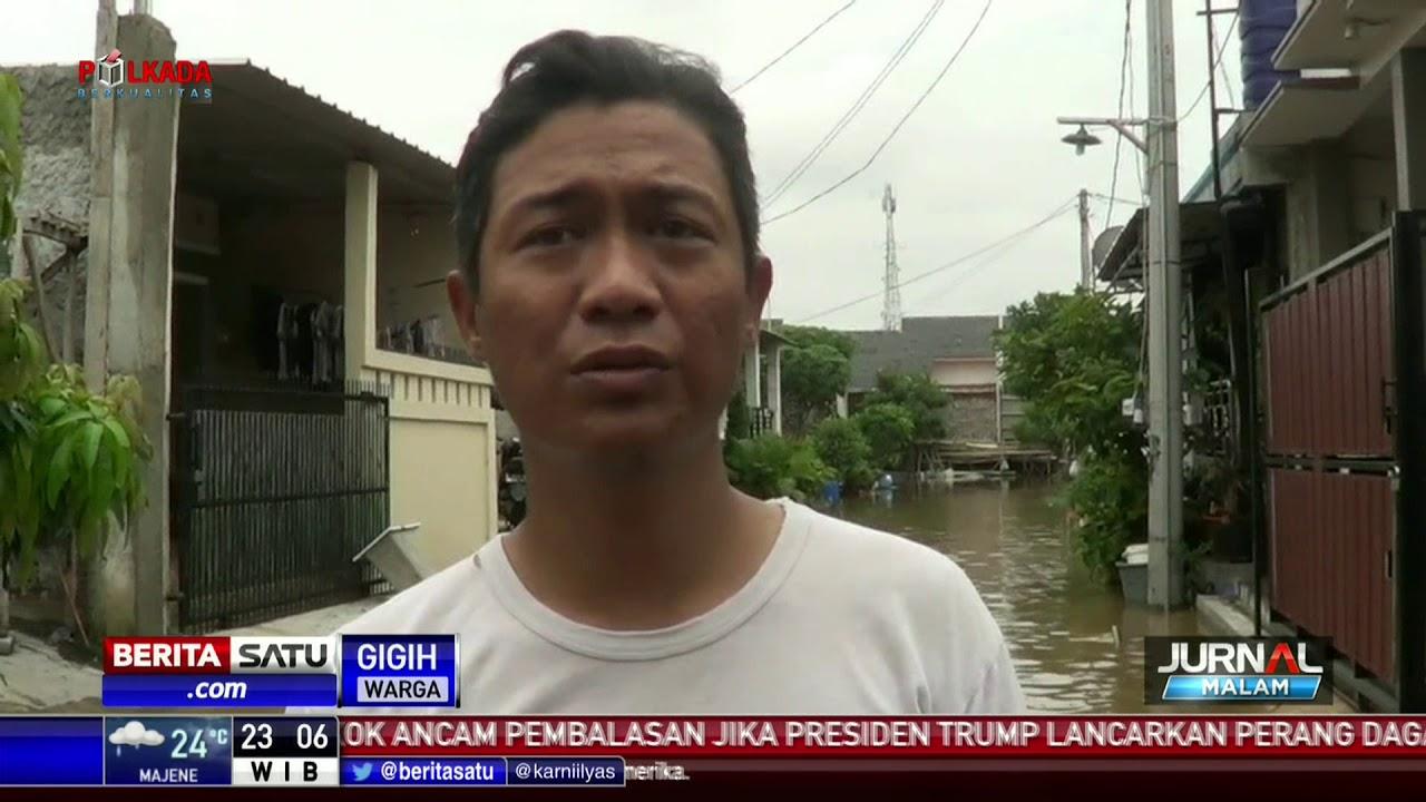 Banjir Satu Meter Rendam Perumahan Garden City Tangerang Youtube
