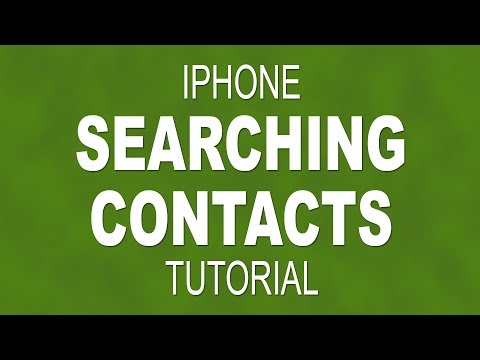How to search for a contact on your iPhone
