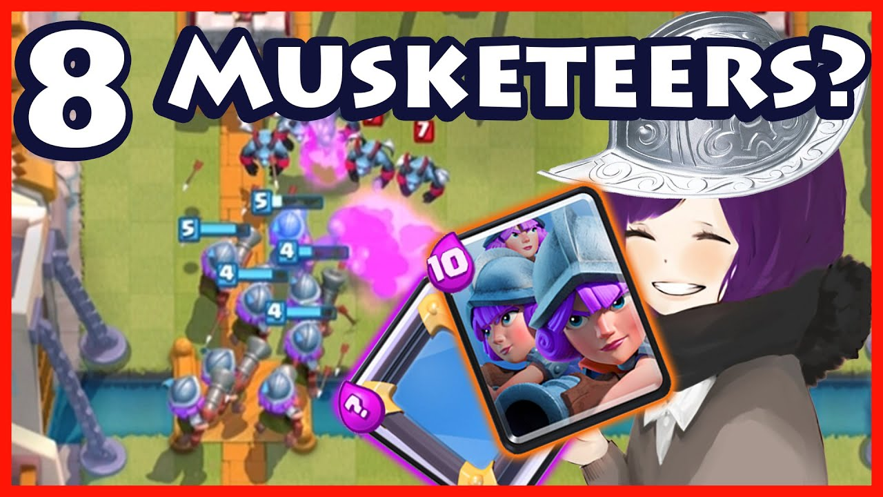 Clash Royale 8 Musketeers Royal Arena Trolling With