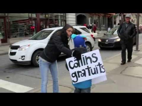 Calins Gratuits - Free Hugs à Québec