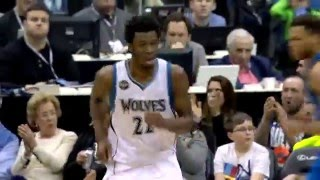 Andrew Wiggins Spins and Slams!