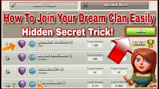 Secret TRICK On How To Join The BEST Clan In Clash Of Clans (HINDI)