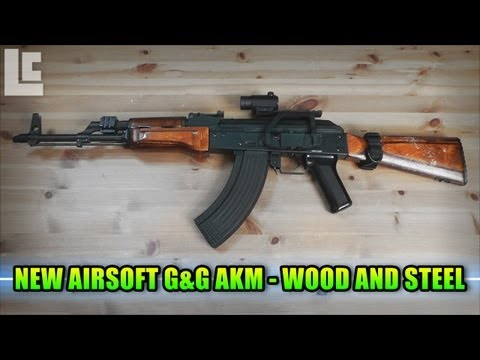 My New Airsoft G&G AKM - Real Wood and Steel (Airsoft Army Birthday Gameplay/Commentary)
