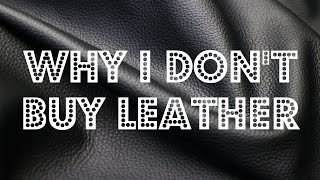 WHY I NO LONGER BUY LEATHER ♥ Cheap Lazy Vegan
