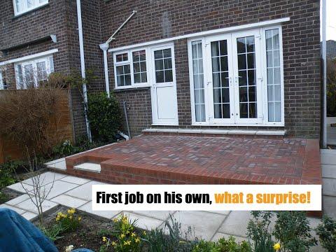 how to build a Raisd patio area - YouTube