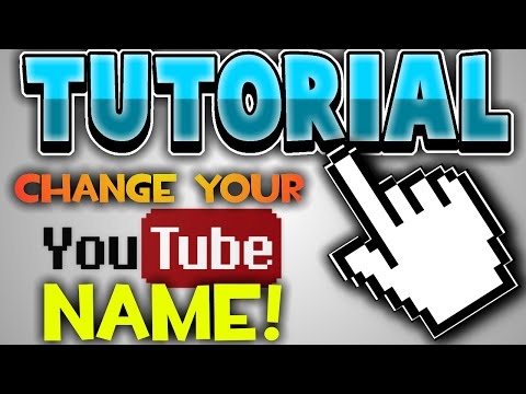 How To Change Your YouTube Name! - Without Spaces! [2016]