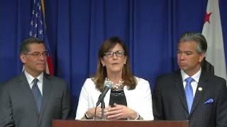 AG Becerra Ed Desteklemek için Sivil Liderler Katıldı. ve Okullarda Eğitim İnsan Kaçakçılığı Önlemek için