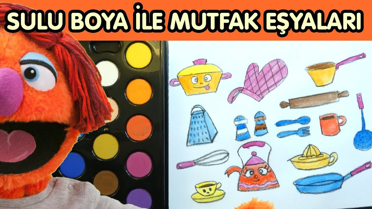 Mutfak Eşyaları Nasıl çizilir Sulu Boya Ile Boyama Joju