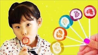 과일 막대사탕을 먹어봤어요 johny johny | finger family song nursery rhymes