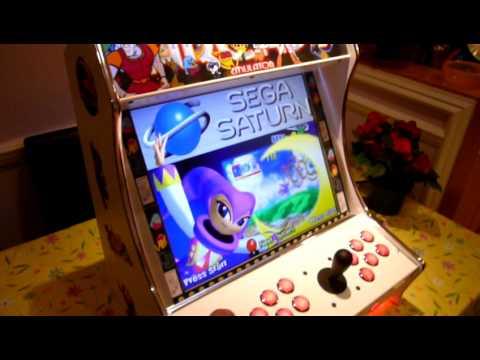 Mame Bartop Arcade Machine Cabinet Youtube