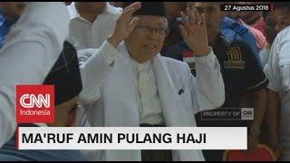 Cawapres Ma'ruf Amin Pulang Haji