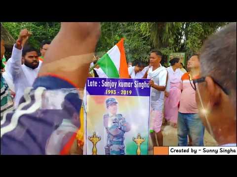 Indian army sahid Sanjay Kumar Singh martyred in Kashmir   Bir Sanjoy Kumar singha Amar rahe   