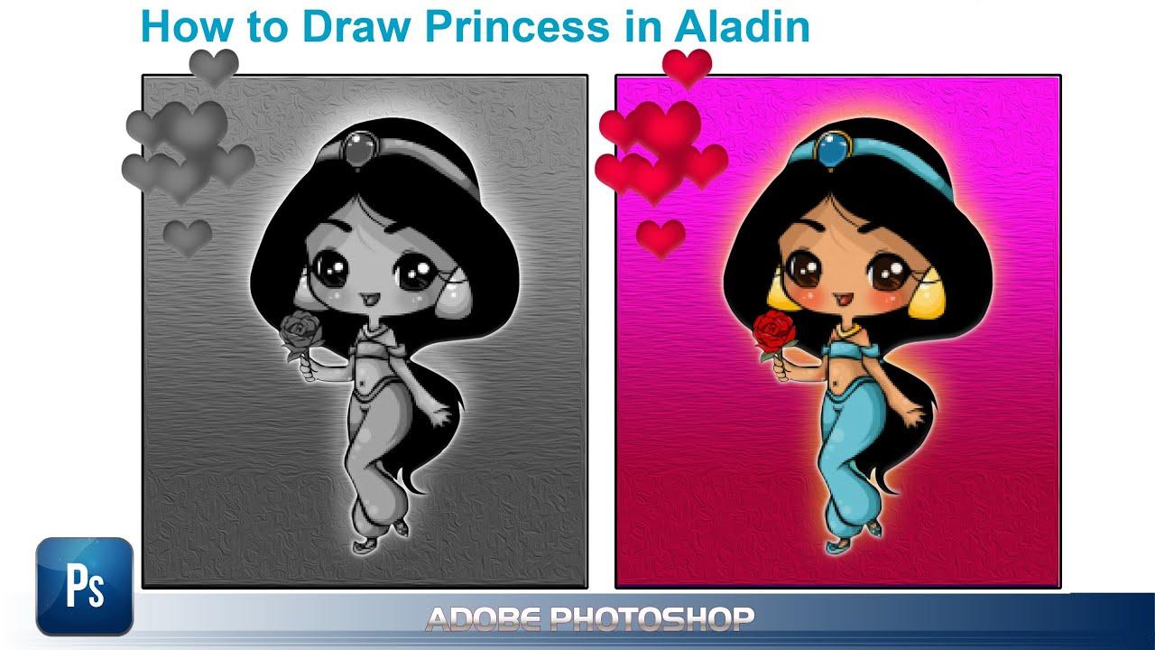 Series Vẽ Sáng Tạo Anime, ChiBi, Manga – Bài 2 – Cách Vẽ ChiBi Princess Trong ALADIN | ARTS CHANNEL