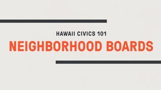 Neighborhood Boards