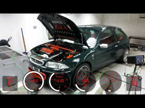 Rover 200 BRM K-series turbo mapping at Emerald with Torque overlay