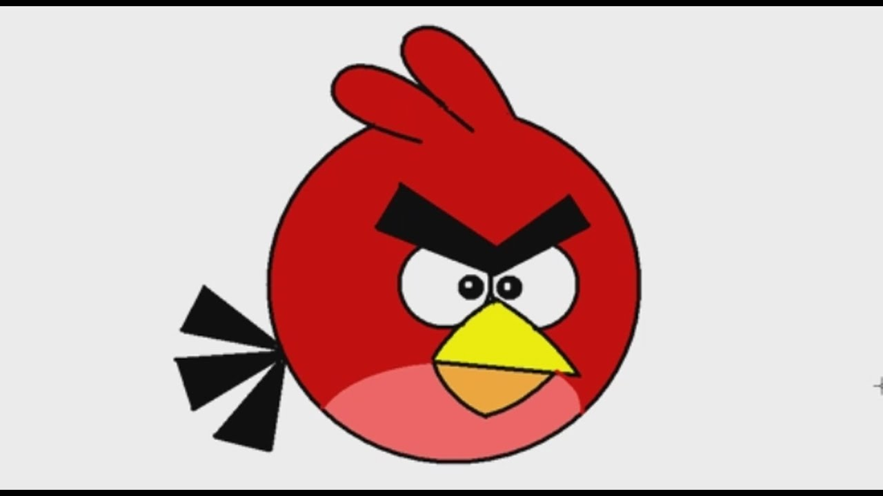 How To Draw Red Angry Birds With MS Paint On Windows XP