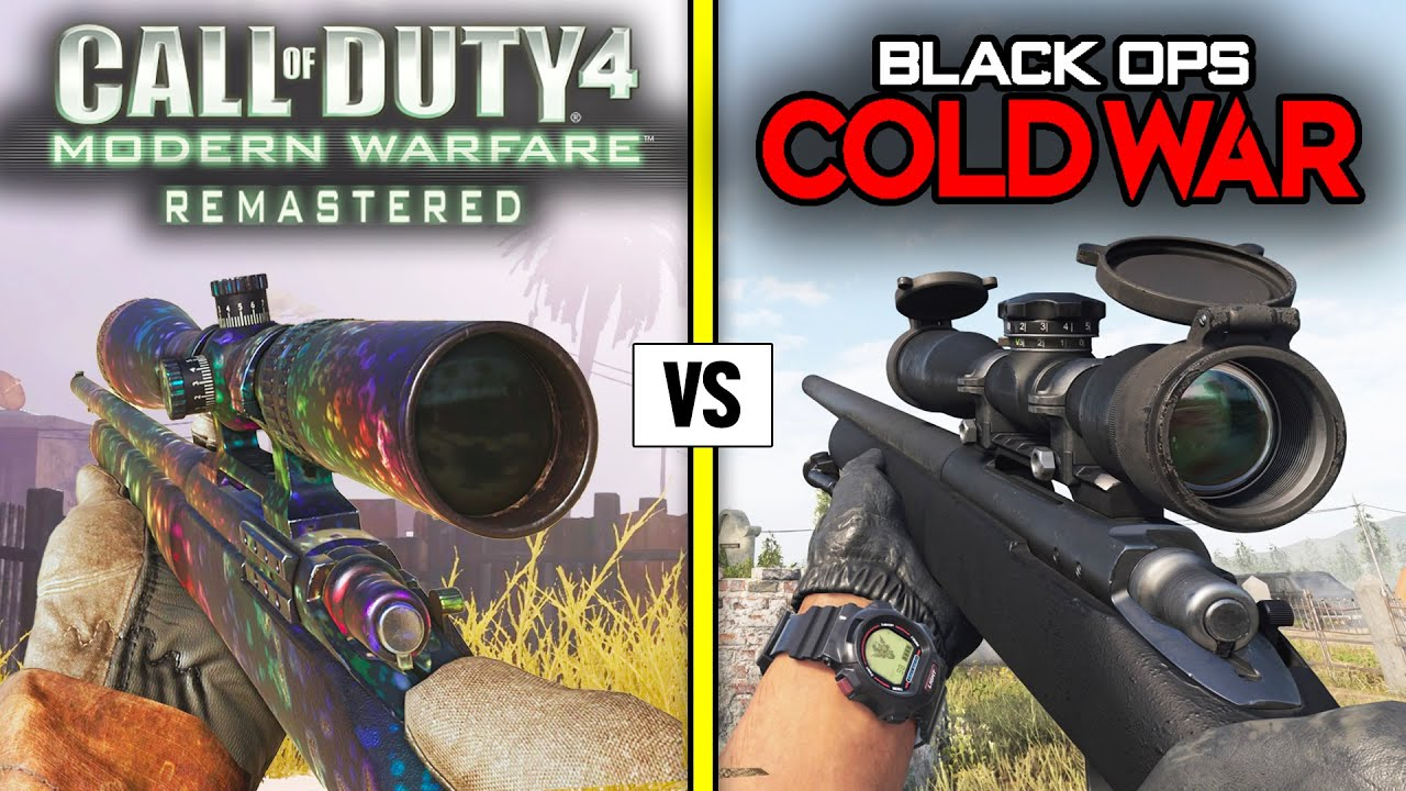Call of Duty Black Ops COLD WAR vs MW (REMASTERED) — Weapons Comparison