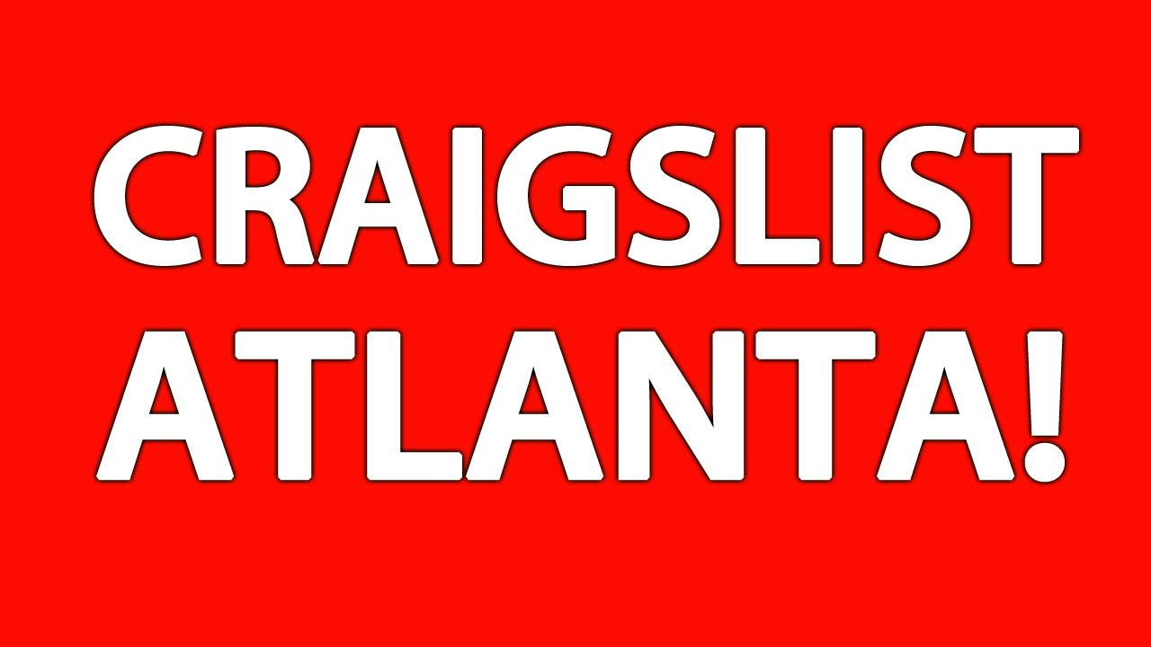 Craigslist georgia atlanta.