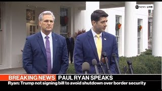 ABC BREAKING NEWS: PAUL RYAN SPEAK | ABC NEWS TO DAY Dec 20 2018