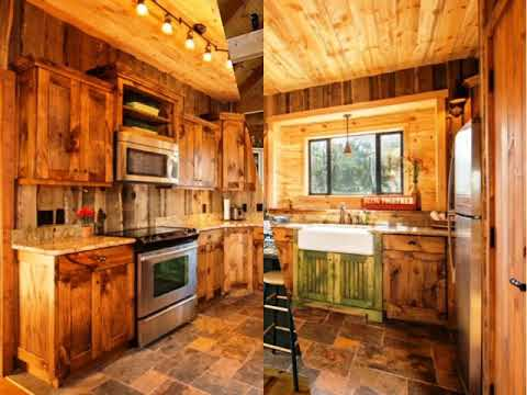 Log Cabin Kitchens with White Cabinets - YouTube