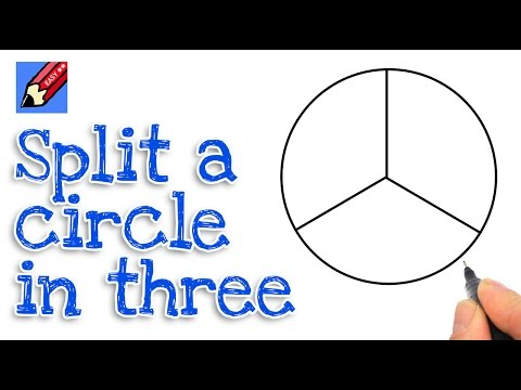 How to split a circle into three real easy...